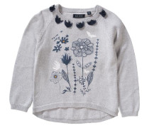 Pullover für Mädchen dunkelblau / grau