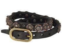 Bonsai Armband Leder 25 cm schwarz