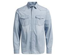 Jeans-Hemd blau