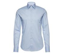 Unifarbenes Hemd 'Walter' blau