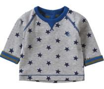 Baby Langarmshirt für Jungen Sterne blau / grau