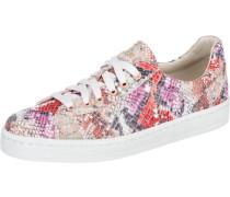 Gwen Python Sneakers camel / rot / schwarz / weiß
