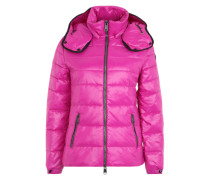 Winterjacke mit Kapuze pink