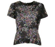 Blusenshirt mit Blumenprint mischfarben / schwarz