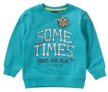 Sweatshirt für Jungen türkis / gelb / dunkelgrau / weiß