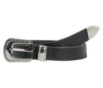 Detaillierter Leder-Gürtel schwarz