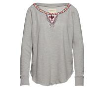 Sweater mit Applikationen grau