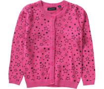 Strickjacke für Mädchen pink / schwarz