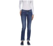 Jeans »Mid Rise Straight Sandy Nmst« blau