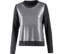 Jeans Sweatshirt Damen grau / silber