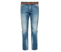 'Close Slim' Used-Jeans blue denim