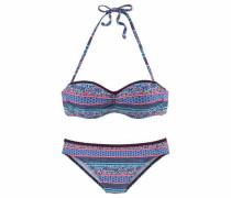 Bügel-Bandeau-Bikini mischfarben