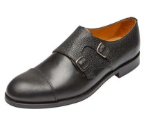 Elegante Schuhe Monk leather - schwarz