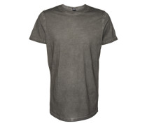 T-Shirt 'Shaped Long Cold Dye Tee' dunkelgrau