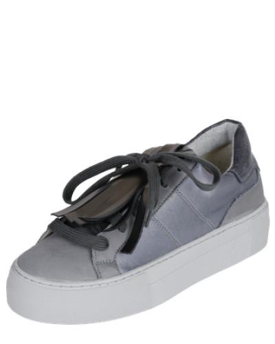 Sneaker mit Fransen basaltgrau / silber