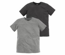 T-Shirt (Packung 2 tlg.) grau / anthrazit