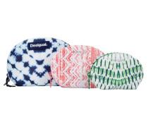 'nec Trio Tye Dy'e Kosmetiktaschen 3tlg. blau / grün / koralle / weiß