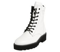 Stiefel weiß / schwarz