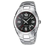 "Armbanduhr ""ef-125D-1Avef"" silber"