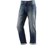 Straight Fit Jeans Herren blau
