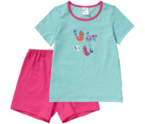Schlafanzug mint / pink