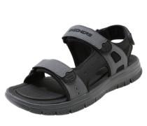 Sandale mit verstellbaren Riemen grau