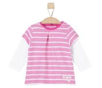Langarmshirt im 2-in-1-Look pink / rosa / weiß