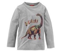 Langarmshirt mit Dinosaurier Druck für Jungen grau