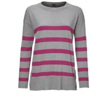 Streifenpullover grau / pink