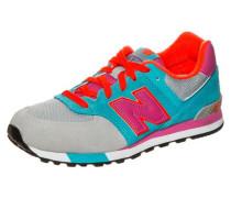 Kl574-Wtg-M Sneaker Kinder türkis / grau / pink