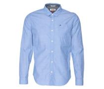 Hemd mit feinem Muster blau