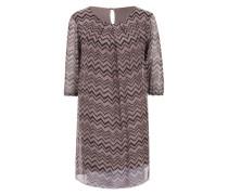 Kleid mit Zick-Zack Muster pink / schwarz