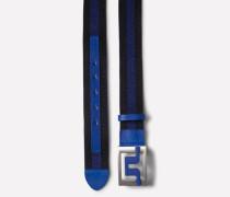 Gürtel 'Slater 40' blau / navy / silber