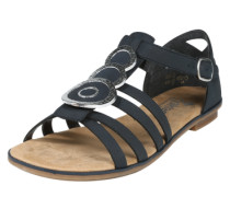 Sandalette mit Verzierungen dunkelblau