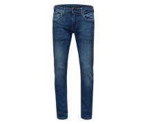 Jeans in Used-Optik 'Hatch' blau