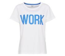 T-Shirt 'riva' blau / weiß