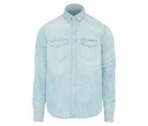 'Classic Shirt' Jeans Hemd hellblau