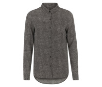 Bluse mit Allover-Print grau / schwarz