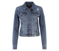 Jeansjacke mit Used-Effekten blue denim