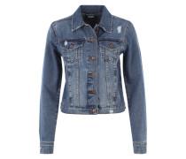 Jeansjacke mit Used-Effekten blue denim