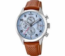 Chronograph »F20271/4« hellblau / braun