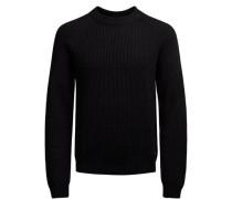 Woll-Strickpullover schwarz