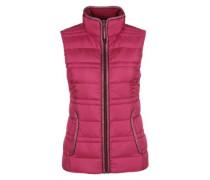 Sportive Daunen-Steppweste pink