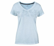 V-Shirt »Fotis« hellblau
