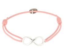 Armband 'Endless' rosa / silber