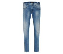 Jeans Anbass Bright Redcast blau
