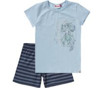 Schlafanzug 'friends' für Mädchen marine / hellblau