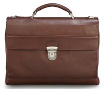Leder Businesstasche 'Do it' braun