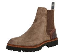 Chelsea Boots 'Flat' hellbraun