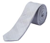 Krawatte Seide grau